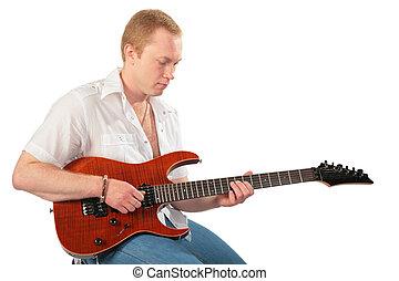 若者, ∥で∥, ギター