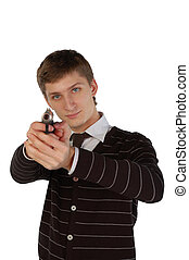若者, 狙いを定める, ∥で∥, a, 銃