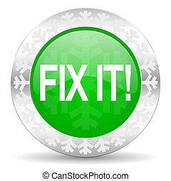 苦境, アイコン, それ, クリスマス, 緑, ボタン