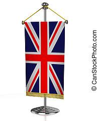 英国, テーブル, 偉人, 旗
