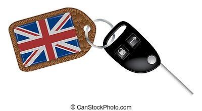 英國, 汽車鑰匙, 以及, 欺騙