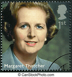 英國, -, 2014:, 顯示, margaret, 用茅草覆蓋屋頂者, (1925-2013), poli