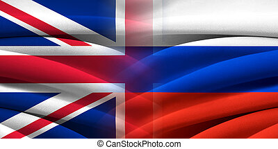 英國, vs, russia.