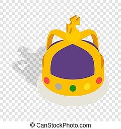 英語, アイコン, 君主, 等大, 王冠