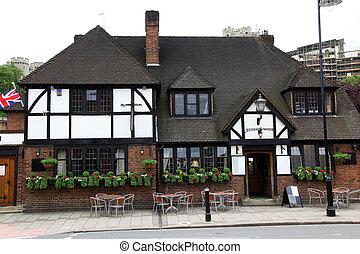 英語, 伝統的である, イギリス, pub