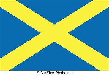 英語, albans, 旗, 聖者, 都市
