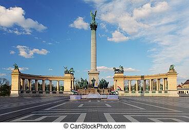 英雄廣場, 在, 布達佩斯, 匈牙利