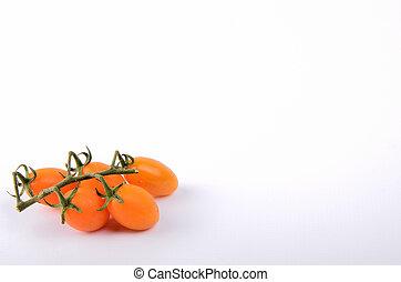 茎, の, 若い, おいしい, 地中海, つるトマト