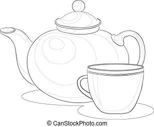 茶壺和杯子, 周線