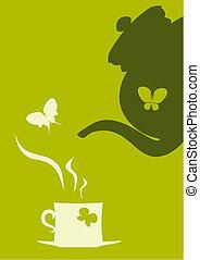 茶壺和杯子, ......的, 茶