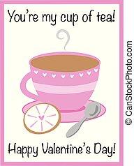 茶, 你, valentine, 我, 杯