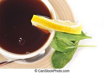 茶, 充足, 杯