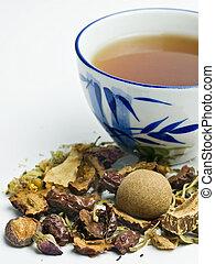 草の 茶, 中国語