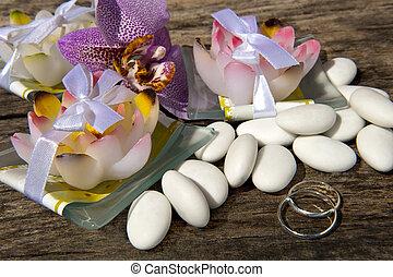 草むしりする, 好意, リング, キャンデー, 結婚式