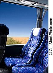 草原, バス, 旅行