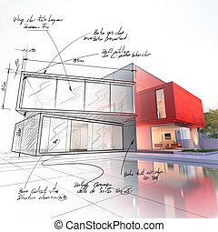 草案, 家, プロジェクト, 贅沢