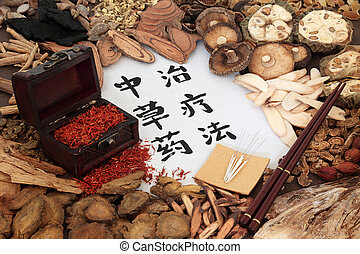 草療法, 中国語