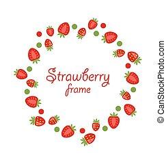 草莓, 摘要, 做, 框架, 輪