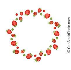 草莓, 摘要, 做, 框架