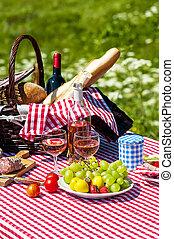 草, ピクニック