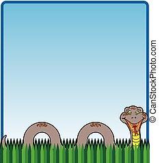 草, ヘビ