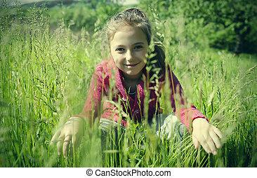 草, 子供