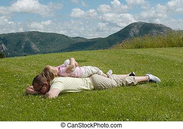 草, 父, 子供