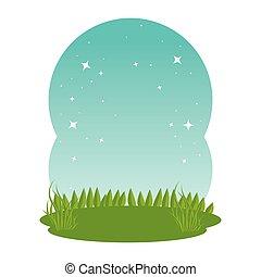 草, 牧草地, 風景, 現場