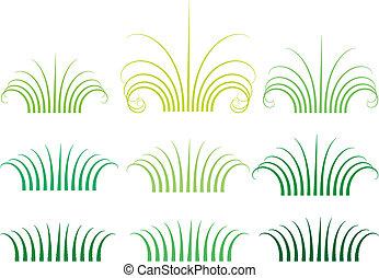 草, 矢量, 绿色