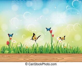 草, 緑の背景