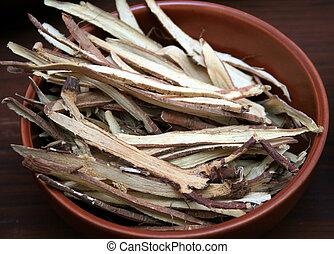 草 薬, 中国語, 木製である