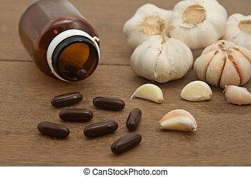 草, 補足, ニンニク, 薬, 選択肢, 丸薬