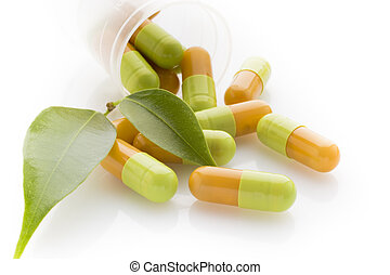 草, pill.