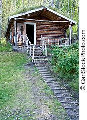 荒野, 原木小屋