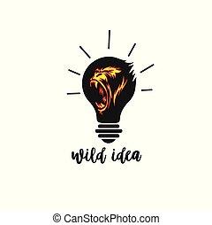荒野, 想法, 圖象, 創造性, 以及, 大, 矢量, 插圖