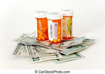 药物, 同时,, 我们, 钱