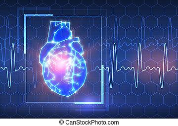 药, 同时,, 心脏病学, 背景