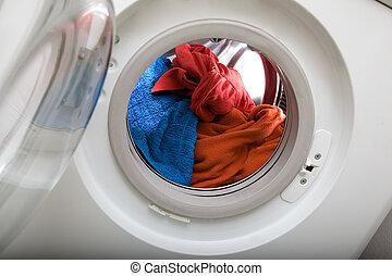 荷を積みなさい, の, 洗濯物