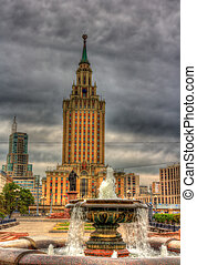 莫斯科, 旅馆, 摩天楼, leningradskaya, stalin's, 察看