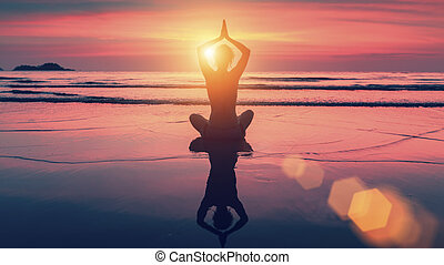 莲, 妇女, 瑜伽姿态