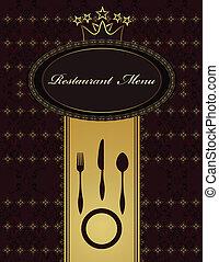 菜單, 餐館