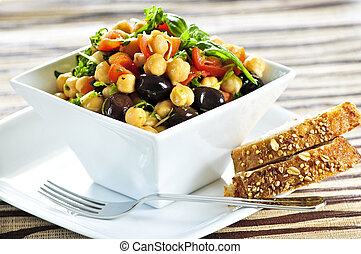 菜食主義者, ヒヨコマメ, サラダ
