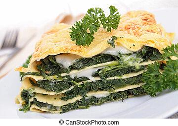 菜食主義者, lasagna