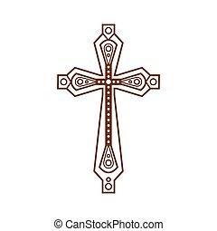 華やか, キリスト教徒, 交差点, アイコン