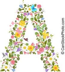 華やか, 大文字, 壷, consisting, の, ∥, 春の花