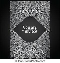 華やか, 東洋人, カード, 招待