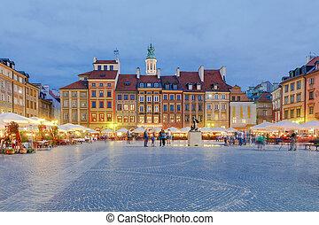 華沙, 市場, 廣場