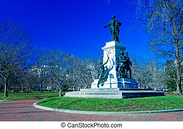華盛頓特區, lafayette, 紀念碑