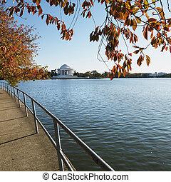 華盛頓, 紀念館, jefferson, usa., d.c
