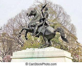 華盛頓, lafayette 公園, andrew jackson, 雕像, 2011